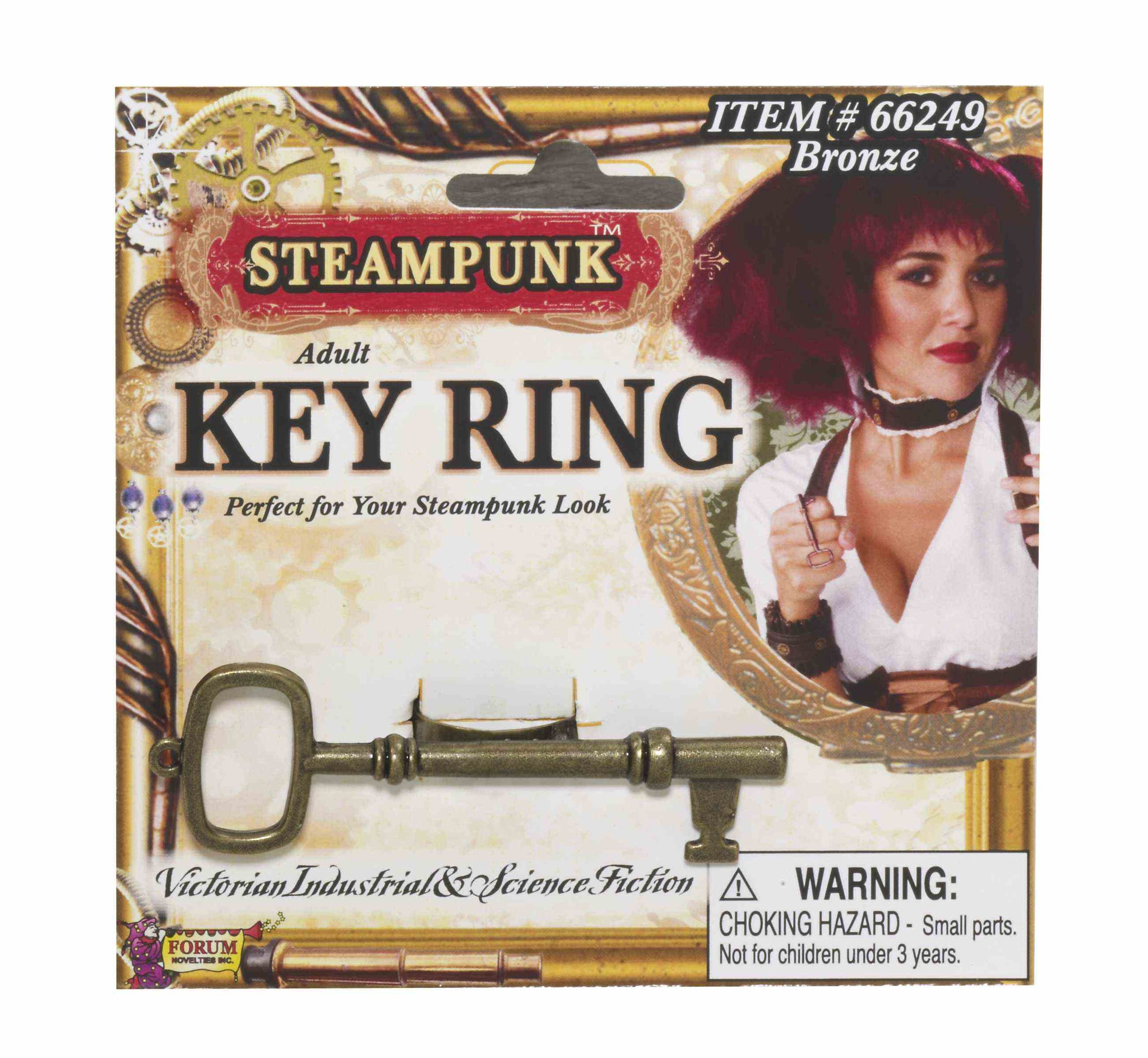 STEAMPUNK KEY RING-BRONZE