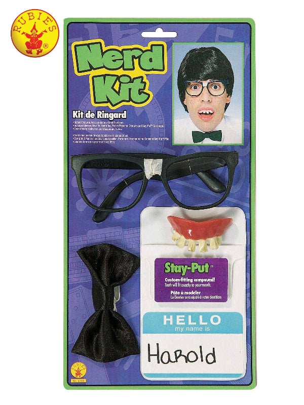 NERD COSTUME ACCESSORY KIT, ADULT