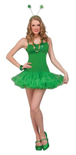 St Pat's Green Petticoat Adult Dress