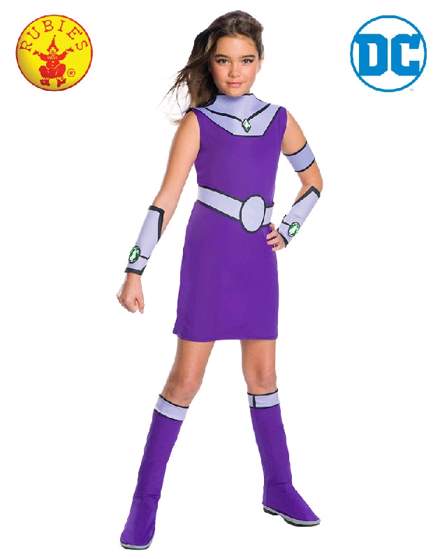 STARFIRE TEEN TITANS DELUXE COSTUME. CHILD - SIZE L