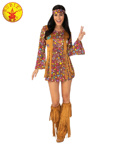 60'S HIPPIE GIRL COSTUME, ADULT - SIZE S