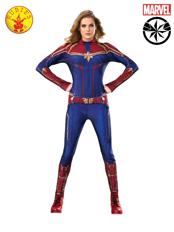 CAPTAIN MARVEL SUPERHERO COSTUME, ADULT - SIZE L
