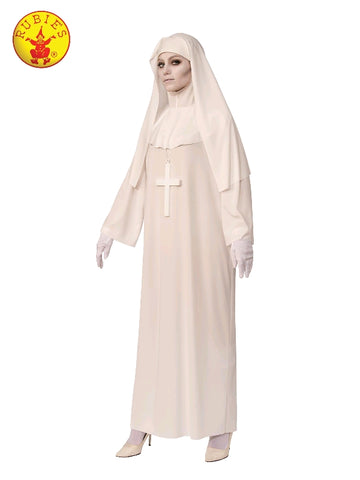 GHOSTLY WHITE NUN COSTUME, ADULT - SIZE STD