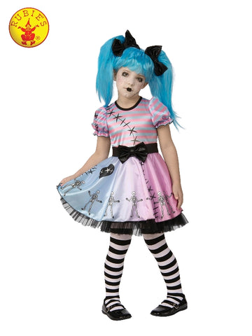 GOTH DOLL KIDS HALLOWEEN COSTUME, SIZE S