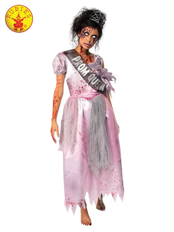 ZOMBIE HALLOWEEN PROM QUEEN COSTUME, ADULT