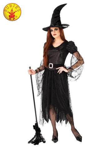 CLASSIC BLACK HALLOWEEN WITCH COSTUME, ADULT
