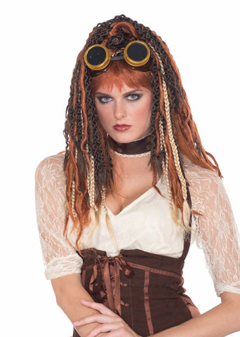 STEAMPUNK HAVOC DREADS WIG ADULT