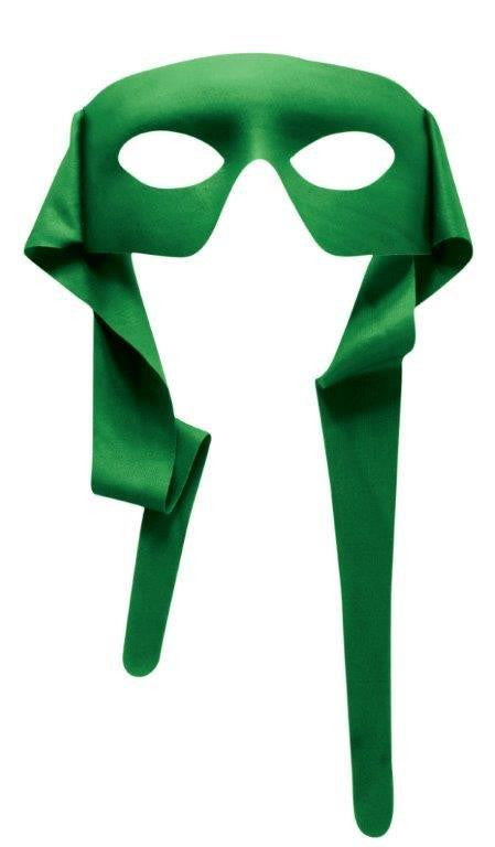 Hero Mask With Rear Tie Green