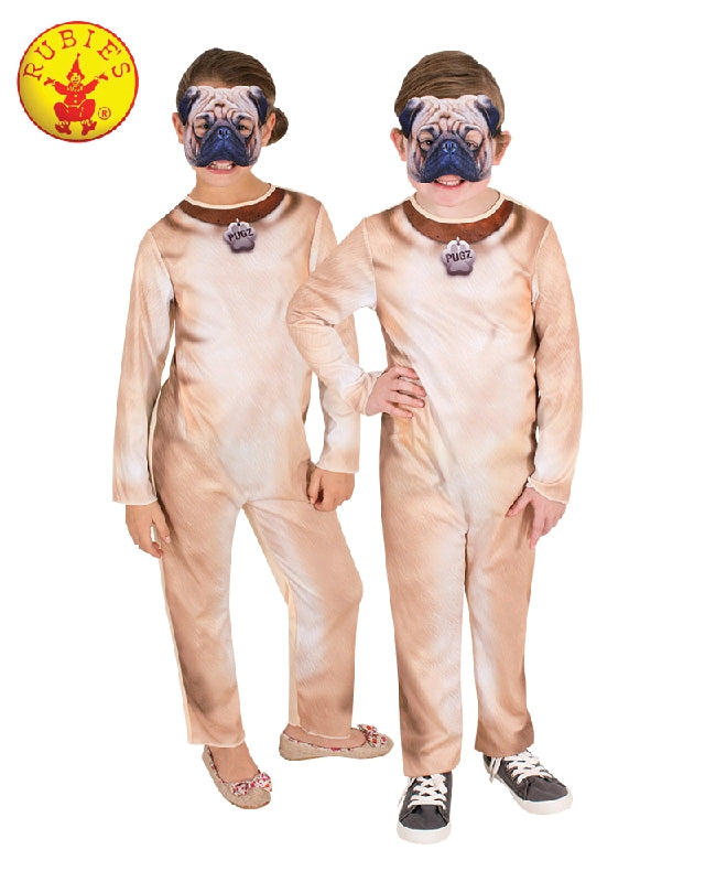 PUG DOG COSTUME, CHILD - SIZE 6-8