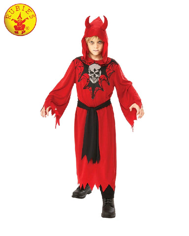 RED SKELETON ROBE COSTUME, CHILD - SIZE 3-5