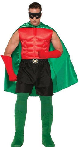 HERO CAPE, GREEN, ADULT - SIZE STD