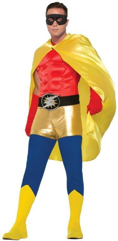 HERO CAPE, YELLOW, ADULT - SIZE STD