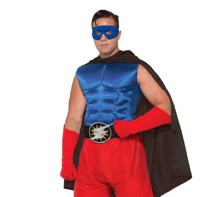 HERO MUSCLE CHEST BLUE, ADULT - SIZE STD