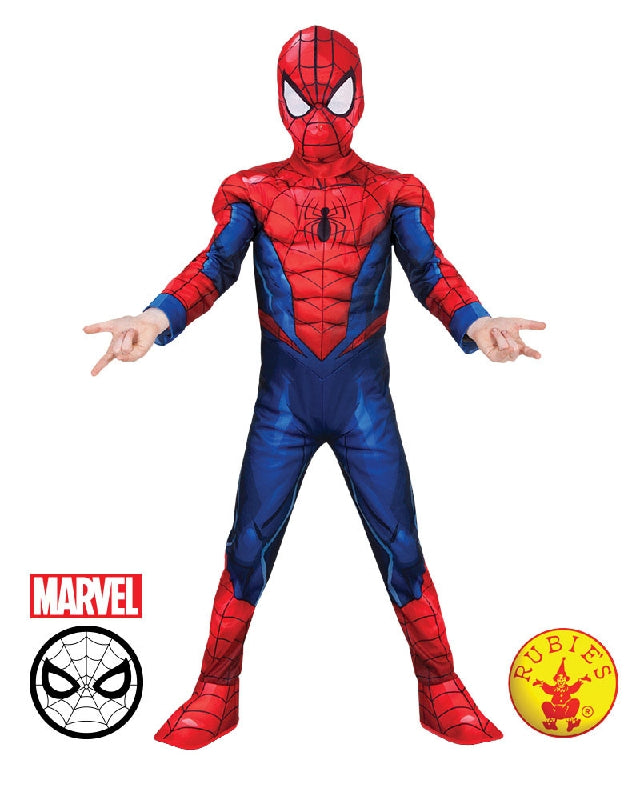 SPIDER-MAN DELUXE COSTUME, CHILD - SIZE 6-8
