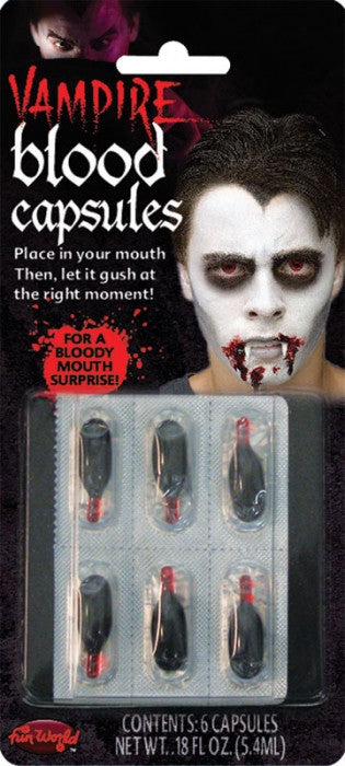 Vampire Liquid Blood Capsules - Pk 6
