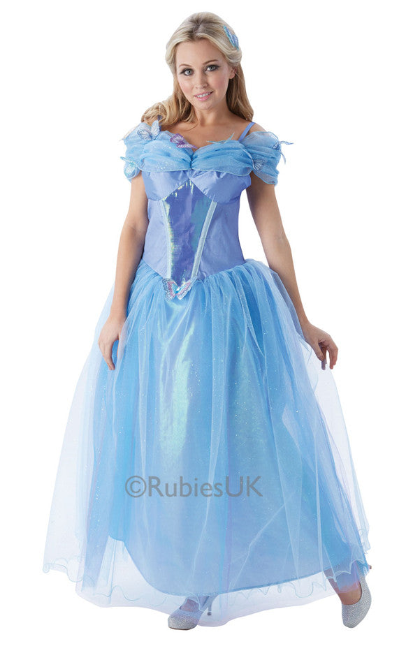 CINDERELLA LIVE ACTION COSTUME, ADULT - SIZE S