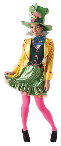 MAD HATTER LADIES COSTUME, ADULT - SIZE L