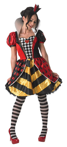 QUEEN OF HEARTS RED, ADULT - SIZE M