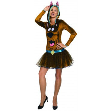 SCOOBY FEMALE COSTUME, ADULT - SIZE S