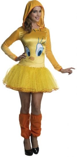 TWEETY HOODED TUTU DRESS - SIZE M