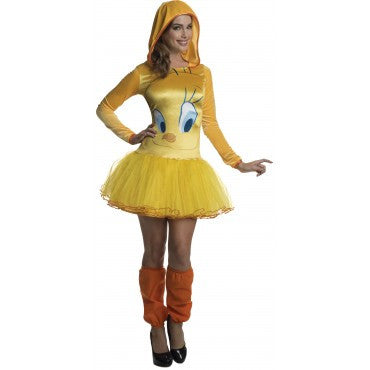 TWEETY HOODED TUTU DRESS - SIZE L