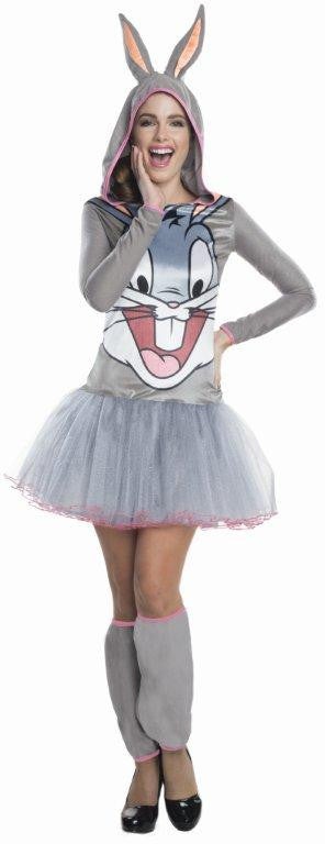 BUGS BUNNY HOODED TUTU DRESS, ADULT - SIZE S