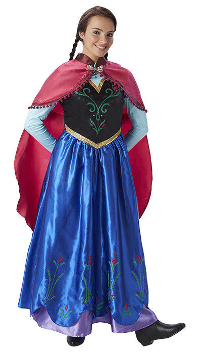 ANNA DISNEY FROZEN COSTUME, ADULT - SIZE L