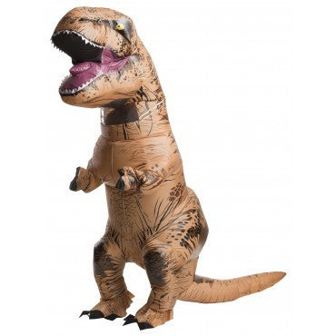 T-REX INFLATABLE COSTUME ADULT, SIZE - STD