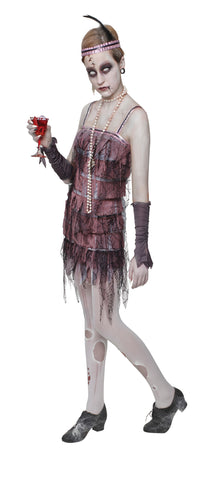 LADY GRAVESTONE HALLOWEEN FLAPPER COSTUME, ADULT
