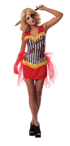 CIRCUS KNIFE THROWER'S ASSISTANT COSTUME, ADULT - SIZE S