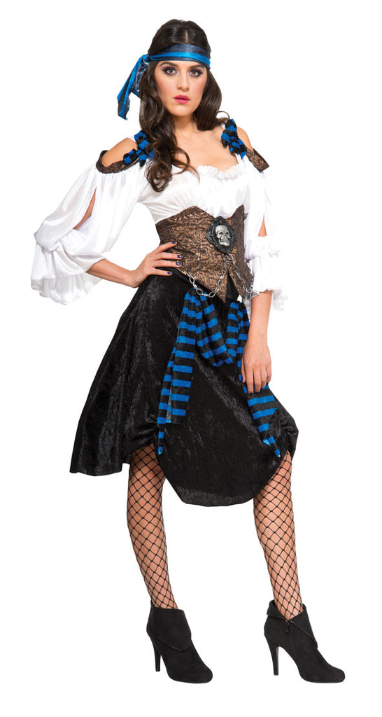 RUM RUNNER PIRATE  ADULT COSTUME - SIZE S