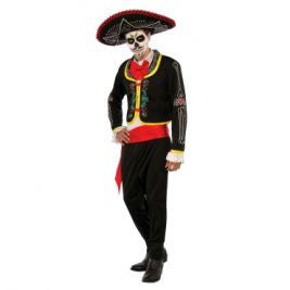 DAY OF THE DEAD SENOR COSTUME, ADULT - SIZE PLUS