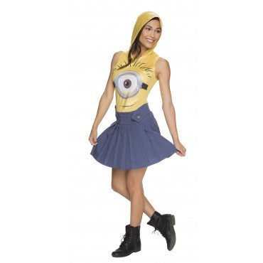 MINION FACE DRESS ADULT - SIZE L