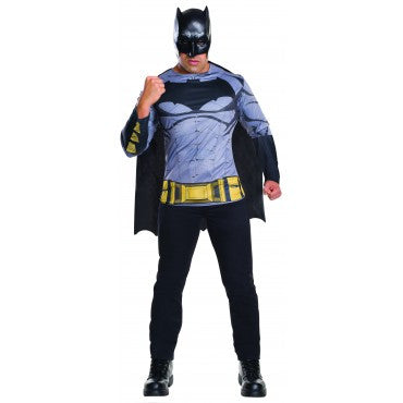 BATMAN COSTUME TOP, ADULT - SIZE STD