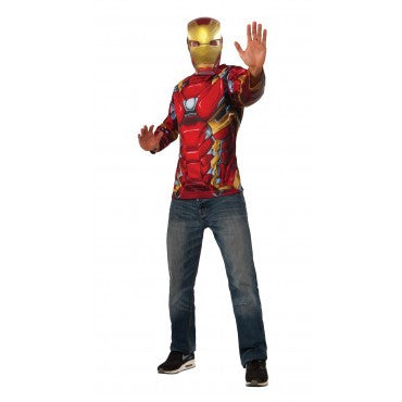 IRON MAN ADULT COSTUME TOP - SIZE STD
