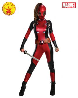 DEADPOOL SEXY JUMPSUIT COSTUME, ADULT - SIZE S