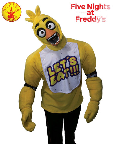 CHICA FIVE NIGHTS AT FREDDY'S DELUXE COSTUME, ADULT - SIZE STD