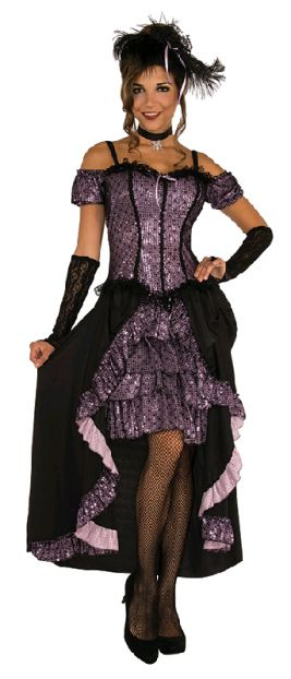 DANCE HALL MISTRESS COSTUME - SIZE STD
