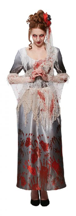BLOODY HALLOWEEN DRESS, ADULT - SIZE S