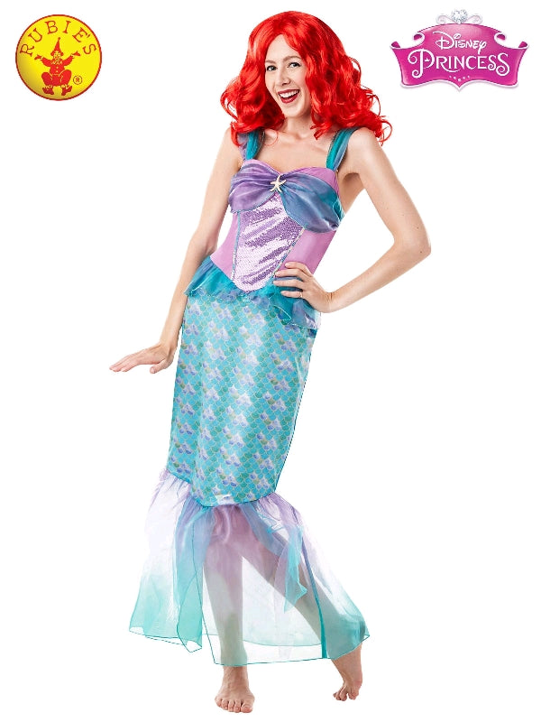 ARIEL DISNEY PRINCESS COSTUME, ADULT - SIZE S