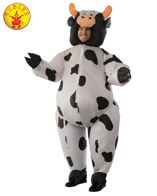 INFLATABLE COW COSTUME, ADULT - SIZE STD