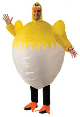 CHICK INFLATABLE COSTUME, ADULT - SIZE STD
