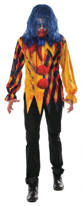KILLER CLOWN COSTUME, ADULT - SIZE XL