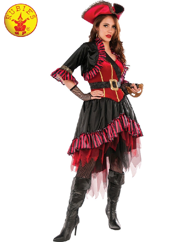 LADY BUCCANEER PIRATE COSTUME, ADULT - SIZE STD