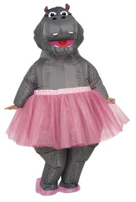 HIPPO BALLERINA INFLATABLE COSTUME, ADULT - SIZE STD