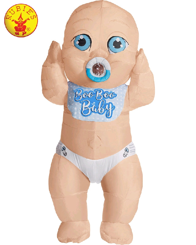 INFLATABLE BABY BOY COSTUME, ADULT - SIZE STD