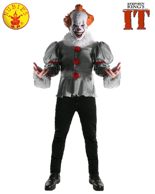 PENNYWISE 'IT' 2017 COSTUME, ADULT  - SIZE XL