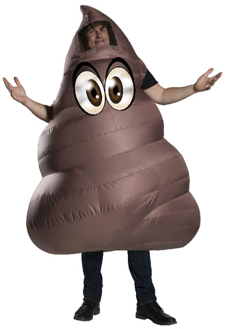 POO EMOJI INFLATABLE COSTUME, ADULT