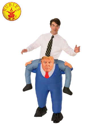 DONALD TRUMP PIGGY BACK COSTUME, ADULT