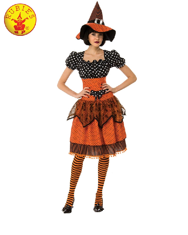 DOTTY WITCH COSTUME, ADULT - SIZE S